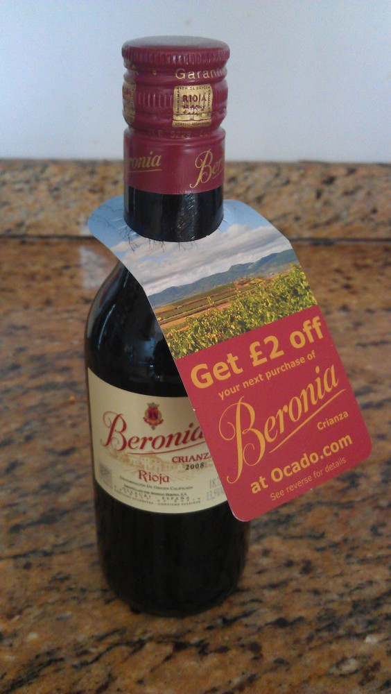 Interesting consumer promotion by Rioja producer