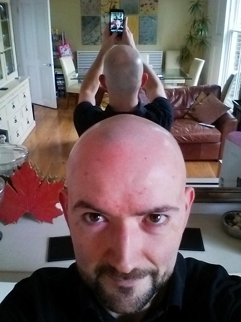 Checking my Meta-Bald-Pic rate