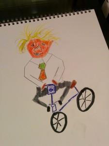 Boris Johnson on his bike